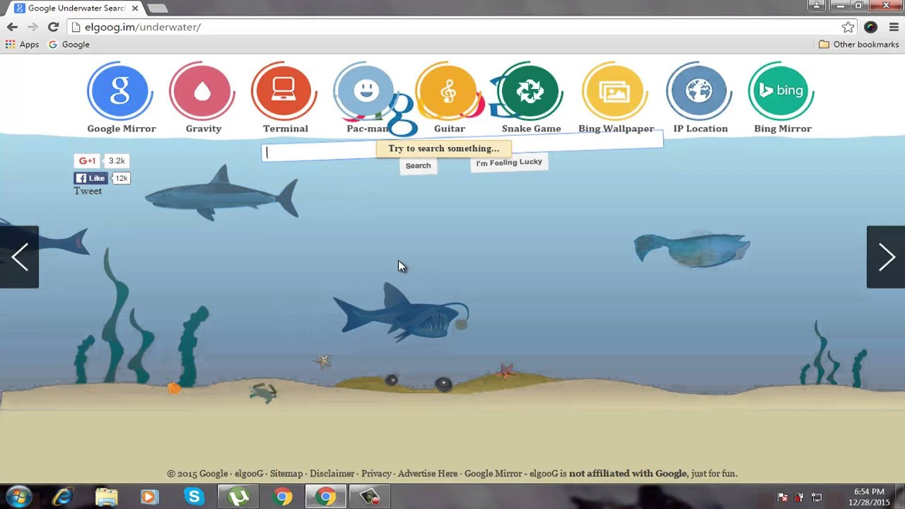 Google underwater mr doob - Awesome Google Gravity Tricks And Anti Gravity Google Tricks