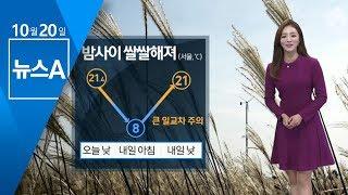 [날씨] 일교차 크고 '쌀쌀'…곳곳 미세먼지 '나쁨' | 뉴스A