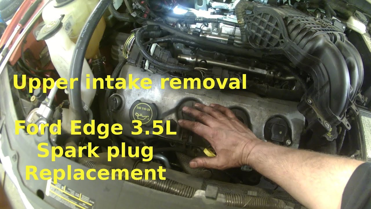 2007 ford taurus engine diagram focus wiring 2008 spark plug replacement edge 3 5l v6 how to change your plugs youtube