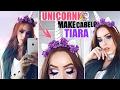 Bora Arrasar De UnicÓrnio No Carnaval 🦄 Tiara + Make LÁgrima De UnicÓrnio E Cabelo ♥ video