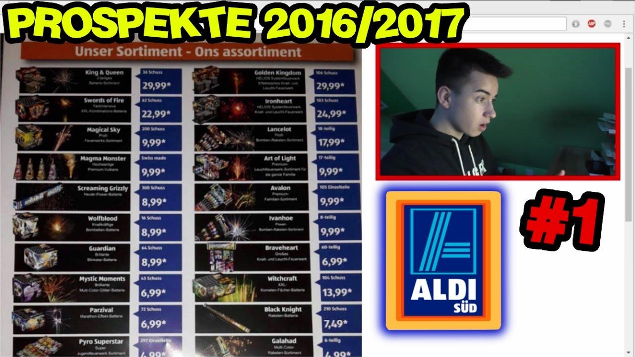 feuerwerks prospekte 2016 2017 1 aldi s d prospekt youtube
