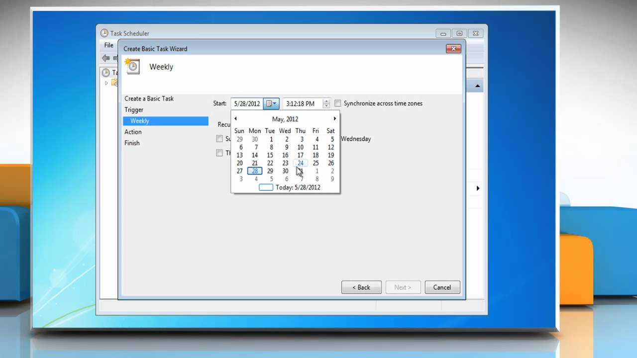 Windows® 7: Schedule Disk Cleanup to run automatically