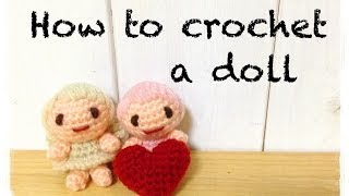 How To Crochet A Doll (2/5) あみぐるみの編み方 By Meetang