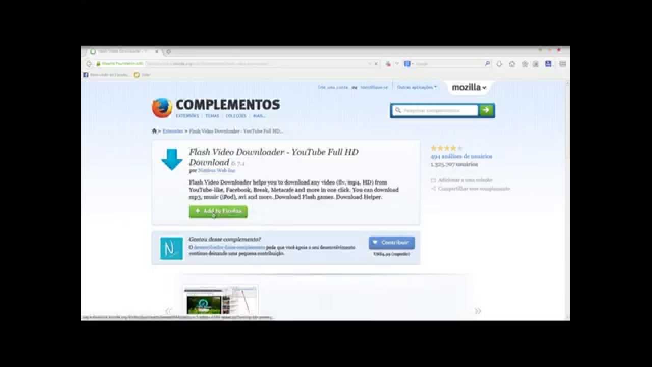 Como baixar vídeo de qualquer site pelo firefox. - YouTube