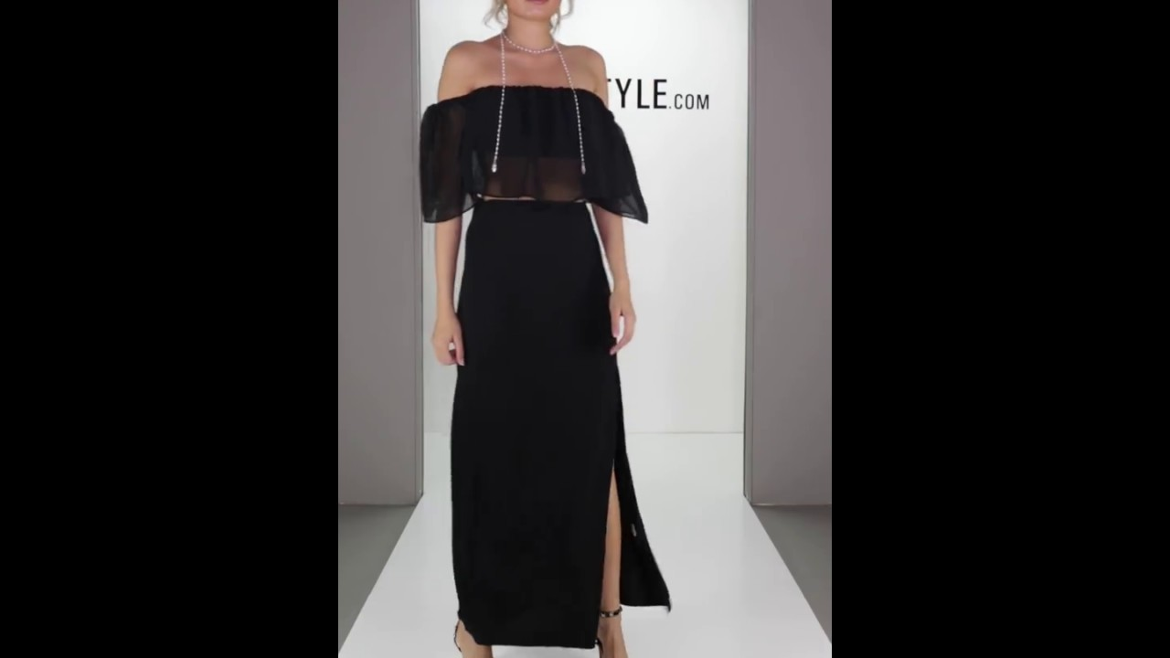 6945987e56a Lovemystyle Black Maxi Skirt With Double Side Split - YouTube