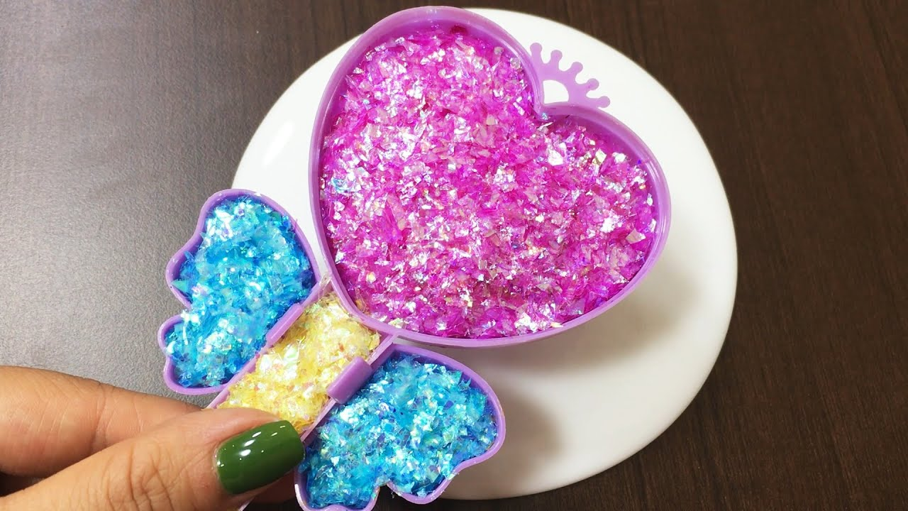 Mixing Glitter into Slime ASMR! Satisfying Slime Video #759