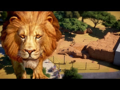 Lion Habitat Speed Build | Planet Zoo Beta