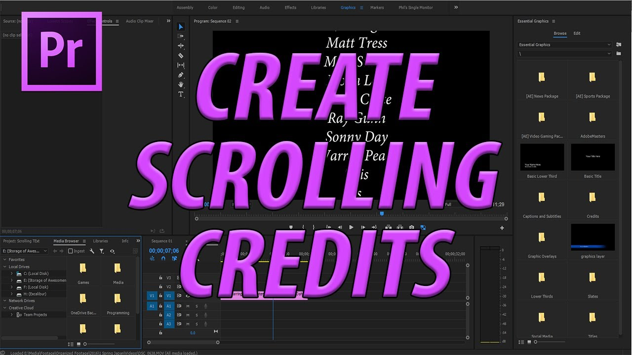 How to Create Scrolling Credits with the Text Tool in