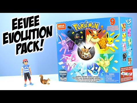 Pokémon MEGA Construx Every Eevee Evolution! Speed Build Toy Review