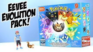 Pokémon MEGA Construx Every Eevee Evolution! Speed Build Toy Review