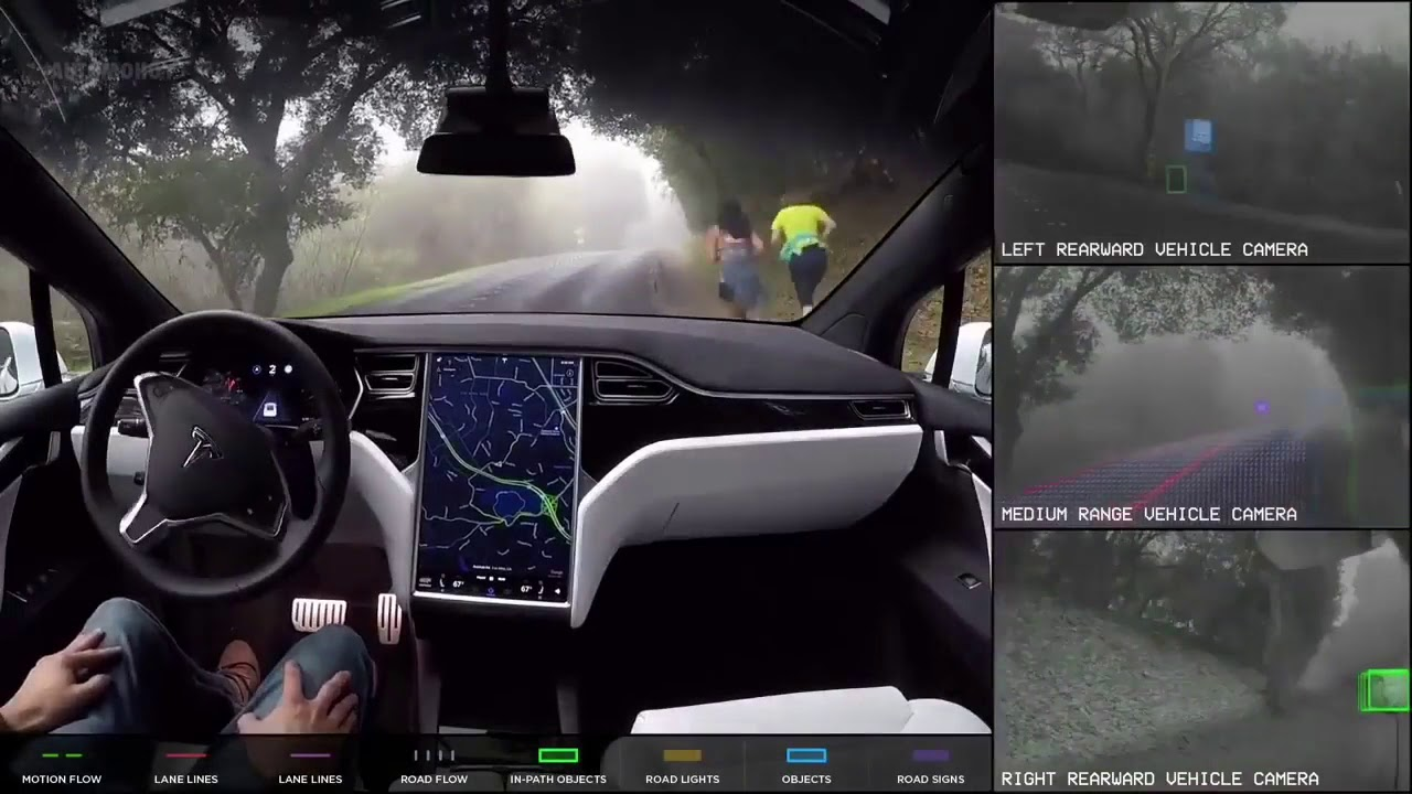 2018 Tesla Model S Autopilot Demonstration Amazing Self Driving Car