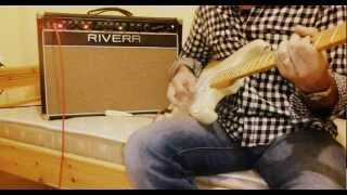 Rivera fandango amp with fender highway one stratocaster
