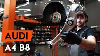 Montáž přední a zadní Sada brzdových čelistí AUDI A4 (8K2, B8): video zdarma