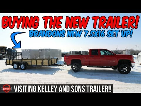 Picking Up Brandon's New 7.5x16 Sure Trac Landscape Utility Trailer | Visiting Kelley And Sons!!