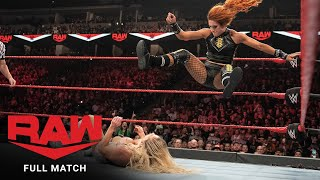 FULL MATCH - Becky Lynch vs. Charlotte Flair: Raw, October 14, 2019
