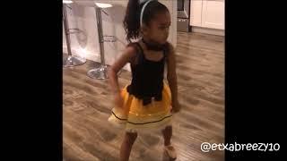 Chris Brown's daughter Royalty dancing to