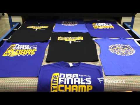 WATCH: Golden State Warriors 2017 NBA Finals Championship Gear Hits Production