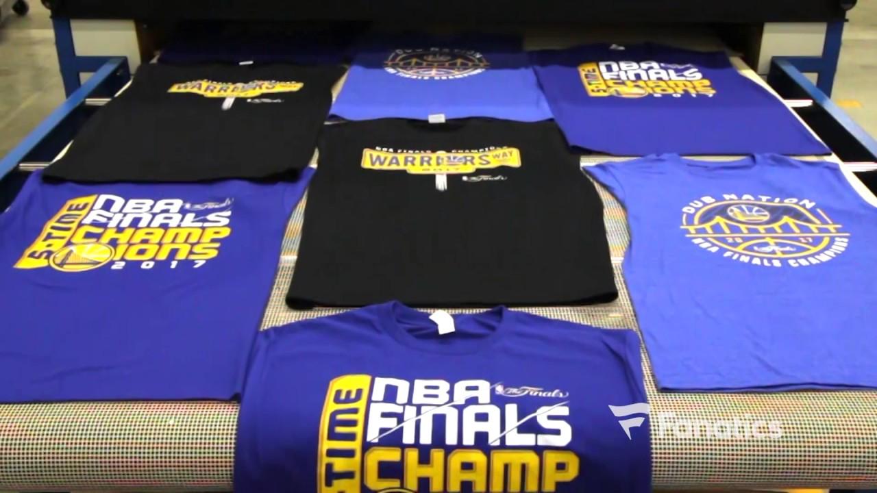 newest 2d8fb d7f36 WATCH: Golden State Warriors 2017 NBA Finals Championship Gear Hits  Production