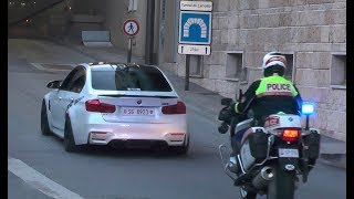 Police vs Supercars in Monaco - Top Marques 2018