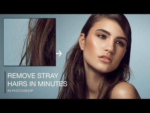 How To Quickly Remove Stray Hairs in Photoshop