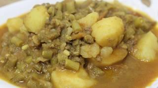 How to Make Tasty kheema Beans Potato Curry