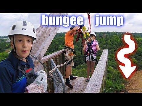 80 FOOT BUNGEE JUMP at Noah's Ark Kentucky