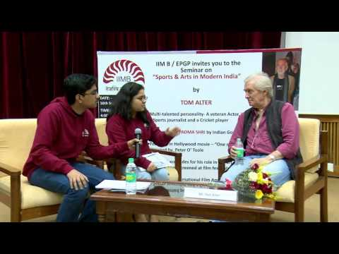 Perspectives from IIM Bangalore: Tom Alter
