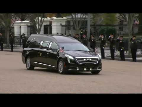 ONE FINAL TIME: Hearse Carrying George H.W. Bush Passes By The White House