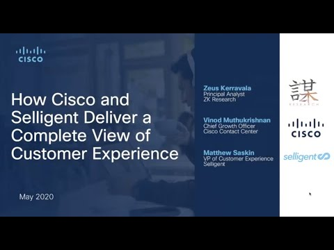 Cisco And Selligent Deliver A Complete View Of Customer Experience