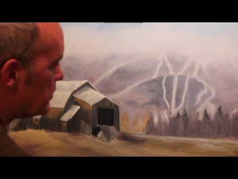 "Acrylic Painting Demonstration – ""First Snow"" Bragg Hill Barn"