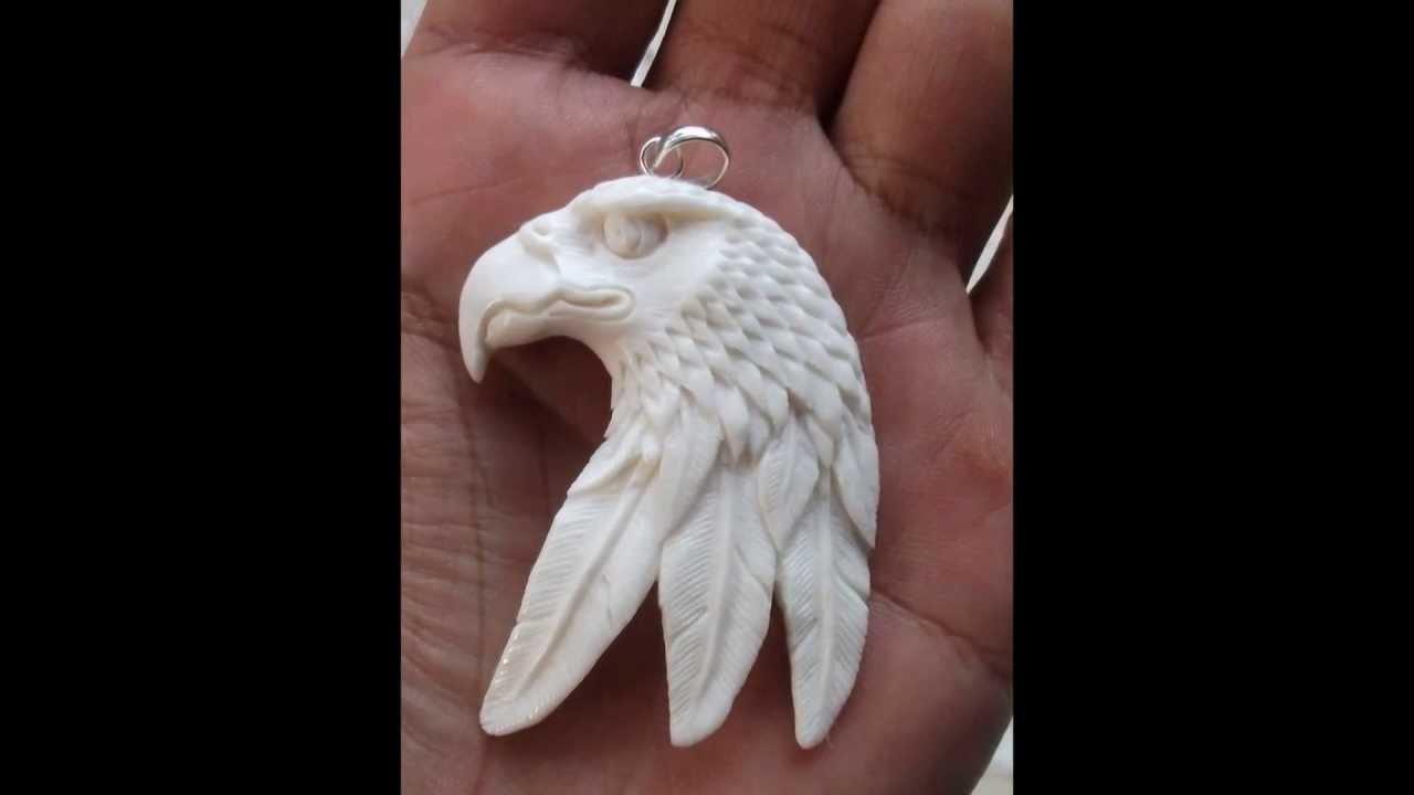 Eagle Bone Carving Pendant Youtube