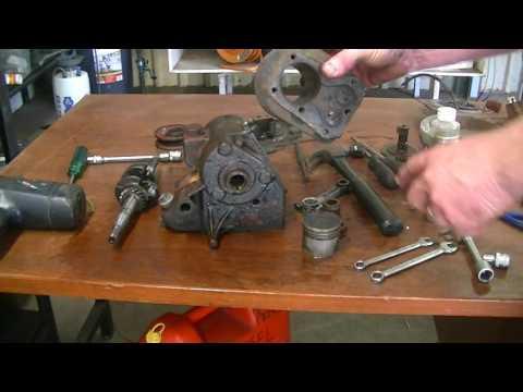 Saving a vintage motor from the garden.