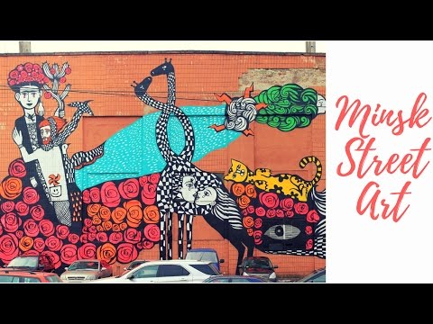 Minsk Street Art - Minsk City Tour - Simple Vlog