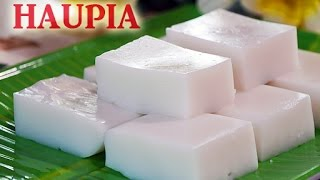 Haupia Hawaiian Coconut Pudding RECIPE