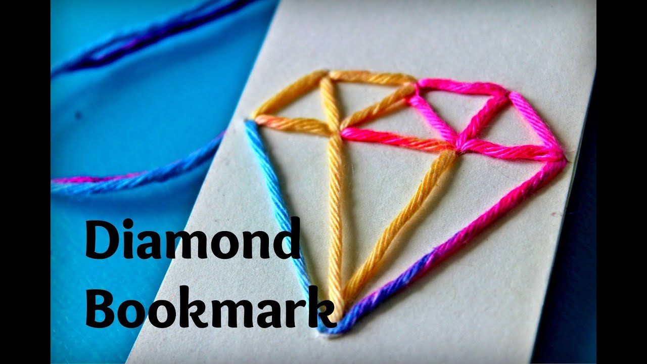 diamond stitched rainbow diy bookmark watch