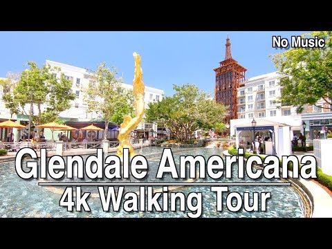 Walking Around Glendale Americana   4K Dji Osmo   No Music