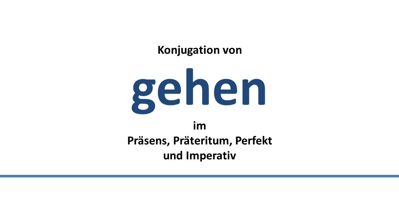 Conjugation German verbs   All forms, examples, translation, rules ...