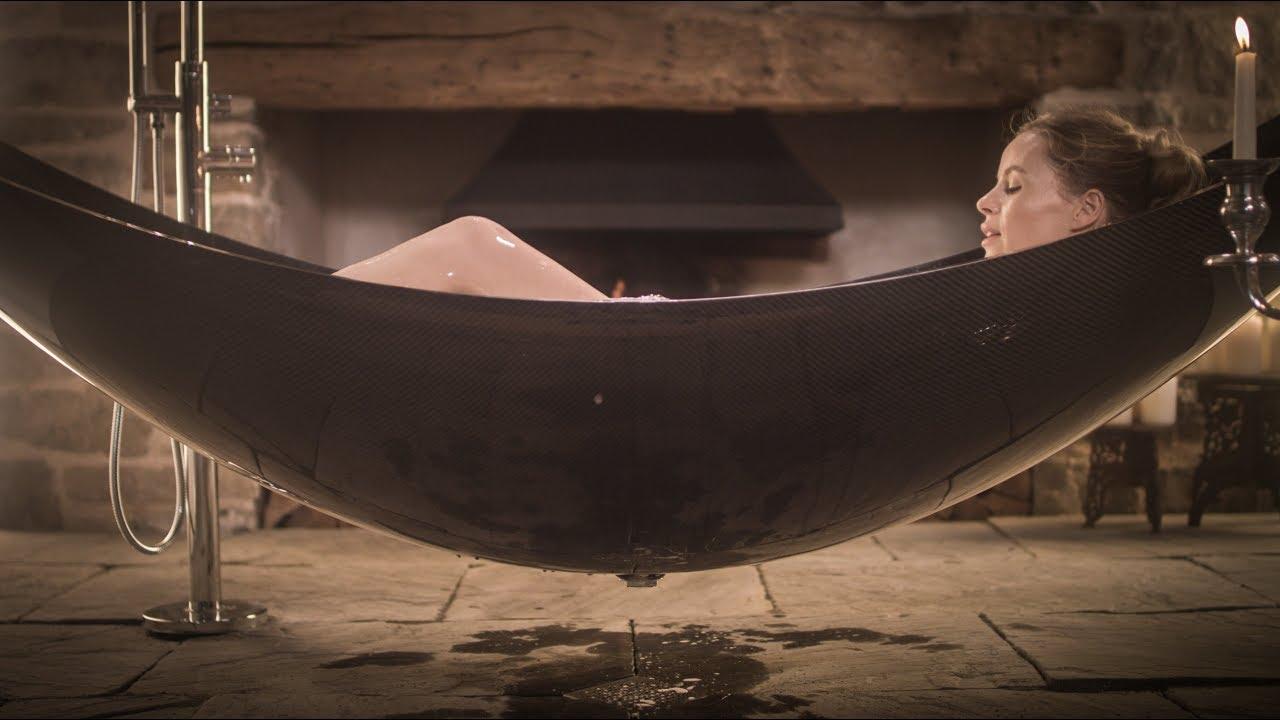 Awesome Insane Carbon Fiber Hammock Bathtub   Ultimate Bathing Experience