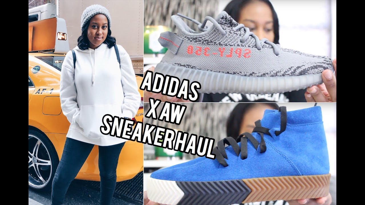 competitive price cffce 91136 Adidas Originals x Alexander Wang + Yeezy Boost 350 V2 Sneaker Haul  The  Luxe Minimalist