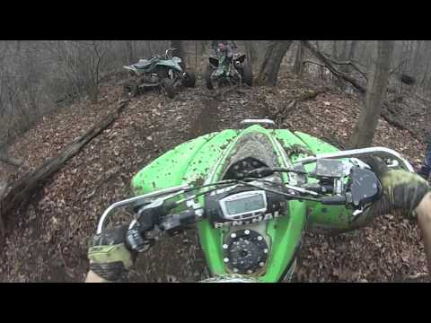 Trx700 and Kfx450 Pull out polaris RZR stuck in mud