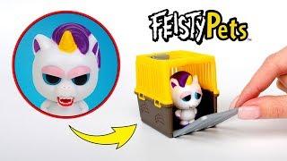 變臉娃娃獨角獸?哇!拆箱變臉娃娃的Mini Misfits系列的寵物