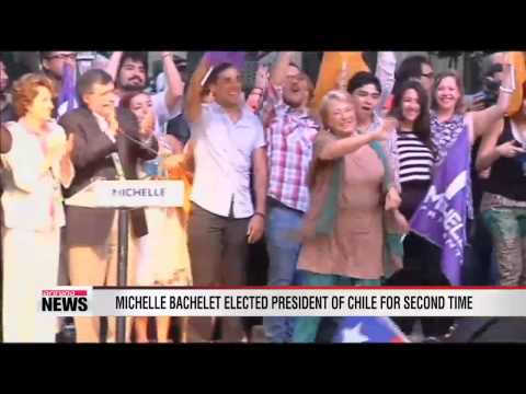 Michelle Bachelet elected president of Chile for second time