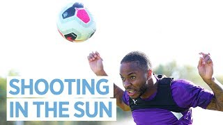 SHOOTING DRILLS AT TRAINING | Man City Training