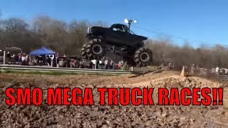SOUTHERN MUD OUTLAWS MEGA TRUCK RACES AT KAUFMAN COUNTY MUD BOG!!