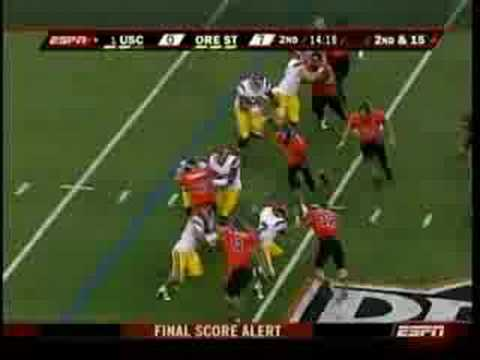 Oregon State UPSETS #1 USC - High Quality - Part 1 - 9/25/08