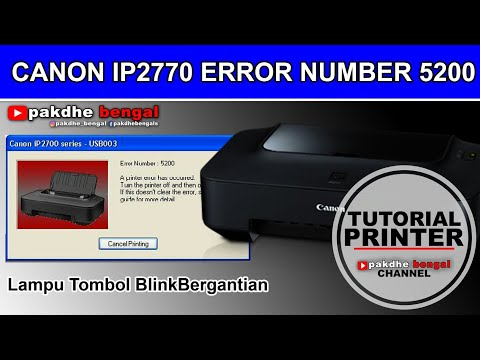 Printer Canon iP2770 Lampu Orange Kedip 5 kali || the following ink cartridge cannot be recognized.
