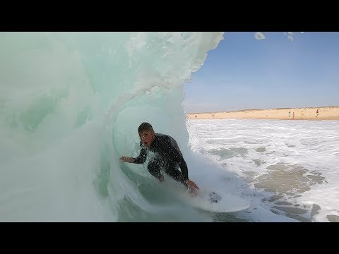 Surfing The MIRACLE Sand Bar In FRANCE