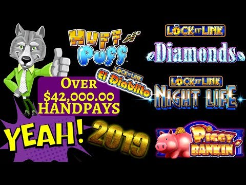 Over $42,000 HANDPAY JACKPOTS On High Limit Lock It Link Slot Machines In 2019 !