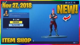 *NEW* RIOT SKIN (Male Power Chord) IN FORTNITE! | Fortnite Item Shop (Nov 27, 2018)