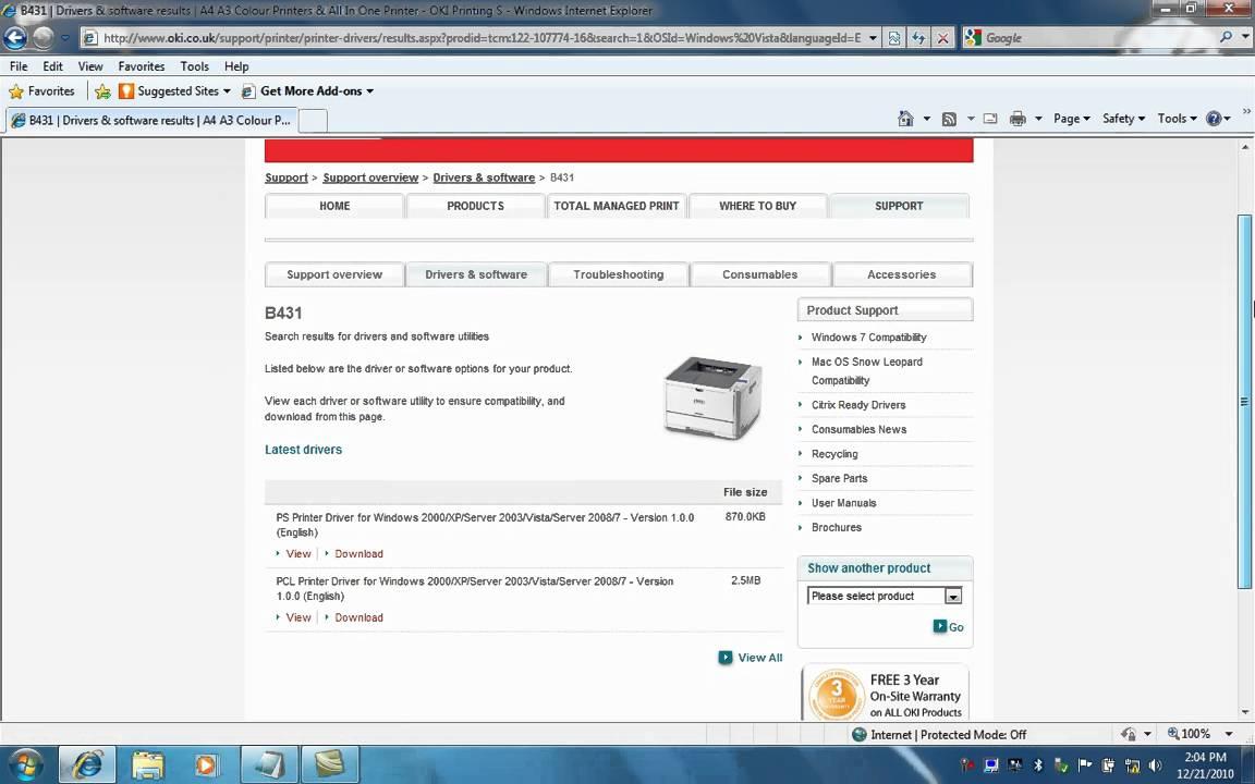 driver imprimante oki b431dn